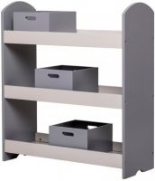 Bookcase w Drawers Grey MDF